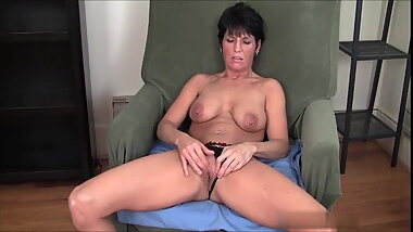 Short Hairy Mature With Pirced Nipples Fingering Pussy