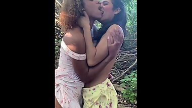 Milu Blaze and I get CAUGHT kissing & flashing in a public park!