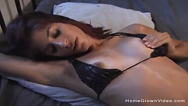 Skinny brunette gets her first taste of big black cock - Pu